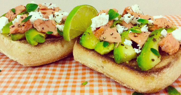 Salmon, Avocado & Feta on Toast