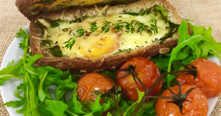 Double Egg Treasure Chest with Roasted Tomatoes